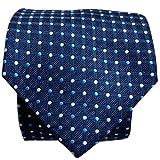 Blacksmithh Premium Navy Blue Polka Dots Woven Tie