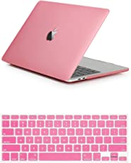 Robustrion Rubberized Matte Hard Case Shell for MacBook Pro 2016(A1706/A1708) with Keyboard Protector Cover 13 Inch(Pink)