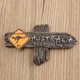 KiWarm Australia Kangaroo Sign 3D Resin Ornaments Miniatures Fridge Magnet Tourist Travel Souvenir Gifts Home Decor Crafts