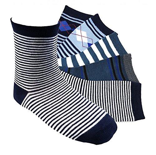 12 Paar Jungen Socken Kinder Strümpfe Kids Socks 90 % Baumwollsocken Gr. 35-38 verschiedene Farben und Motive (J01 35-38)