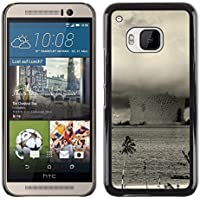 Custodia rigida custodia case cover per HTC One M9 – Bikini Atoll – Bomba nucleare