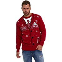 LEKEEZ® Christmas Jumpers Unisex Mens Womens Ladies Xmas Novelty Knitted Sweater XS - 4XL