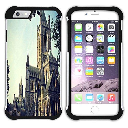 Graphic4You Dublin Irland Postkarte Aussicht Hart + Weiche Kratzfeste Hülle Case Schale Tasche Schutzhülle für Apple iPhone 6 Plus / 6S Plus Design #14