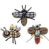 3 Pezzi Bee Paillettes Ape Con Rhinestone Perline Patch Cucire Patch Appliques Decorazione Abbigliamento