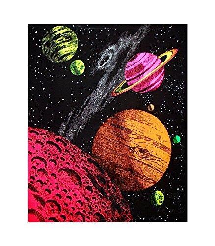 Morgen Sunny Home Dekoration Galaxy Blacklight Reactive Print Poster/61x 91,4cm/Art Seide Poster (Galaxy Blacklight)