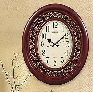 Amazon.de: YHJ Wanduhr Wohnzimmer-europäische Luxuxquarz-Uhr-Wand ...