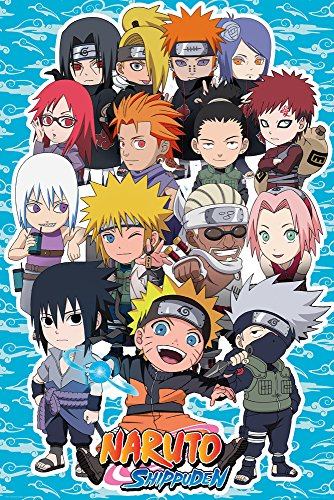 Grupo Erik Editores Naruto Shippuden SD Compilation Poster, Madera, 65 x 3.5 x 3.5 cm