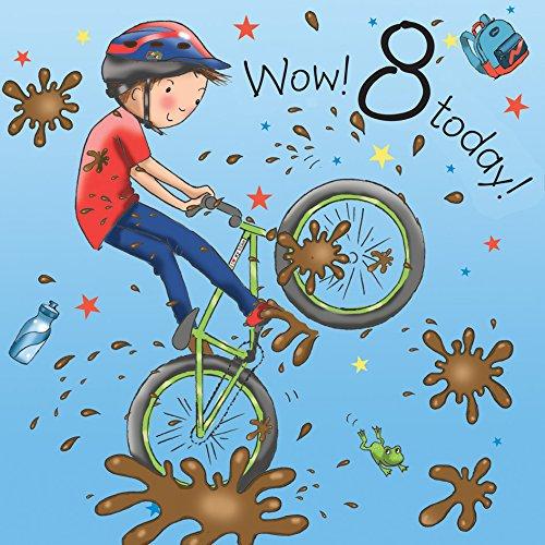 Auguri Buon Compleanno 8 Anni.Twizler 8th Di Compleanno Per Ragazzo Con Bike Otto Anni Age 8 Carta Di Compleanno Per Bambini Ragazzi Biglietto Di Auguri Di Buon