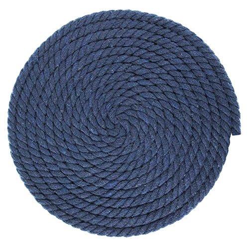 1/4-inch-thick gedrehtes Seil Baumwolle Macrame Craft-Große Auswahl an der Farbe und Muster Optionen-Längen von 10, 25, 50, und 100Fuß 50 Feet navy (Blauen Teppich Und Seile)