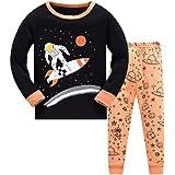 DAWILS Pijama para Niños Avión Cohete Transbordador Espacial Astronauta Astronave Universo Espacio Astronave Luna Pijamas de