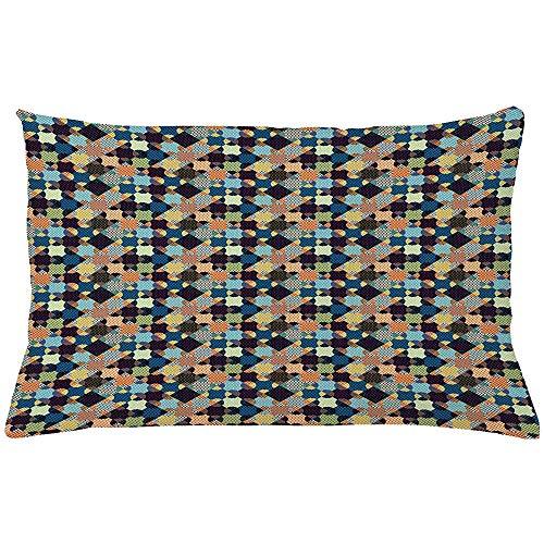 Ducan Lincoln Pillow Case 4 Stück 18X18 Zoll Abstrakte Wurfkissen Kissenbezug,Pop Art Design Geometrische Halbton Polka Dots Patchwork Style Print,Inneneinrichtungen Rechteck Akzent Kissenbezug -