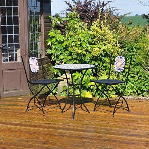 Kingfisher – Set de muebles de patio / jardín Modelo Bistro Mosaico ...