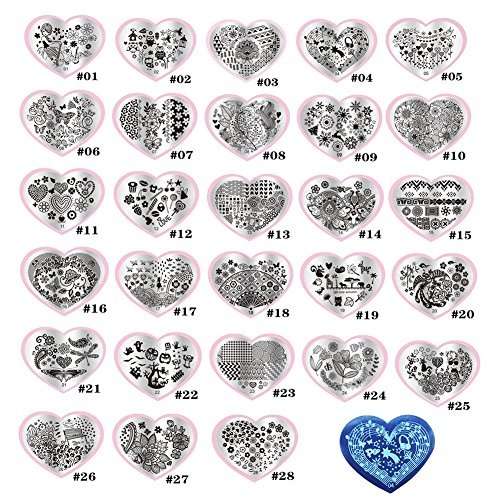 Molie 10PCS Vernis à ongles Stamping Plaques
