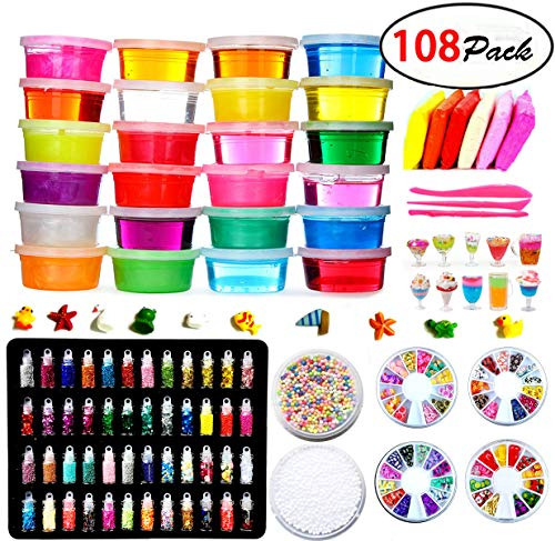 DIY Slime Kit - 24 Colores Kit de Slime Esponjoso con 48...