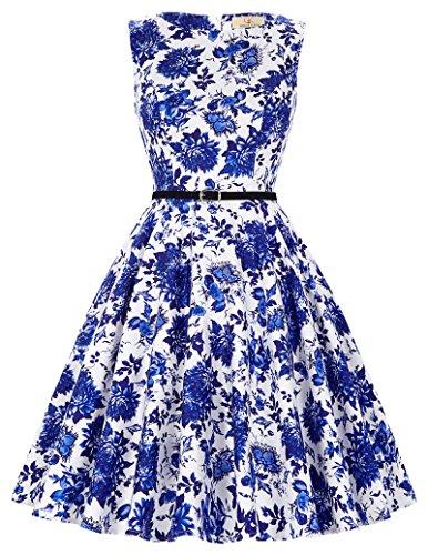 50er jahre rockabilly kleid vintage audrey hepburn kleid festliches kleid swing dress Größe XL CL6086-32