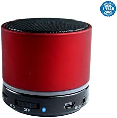 Captcha S10 Bluetooth Speakers With Handsfree/FM Radio & SD Card Support for Android/iOS Devices (Red)