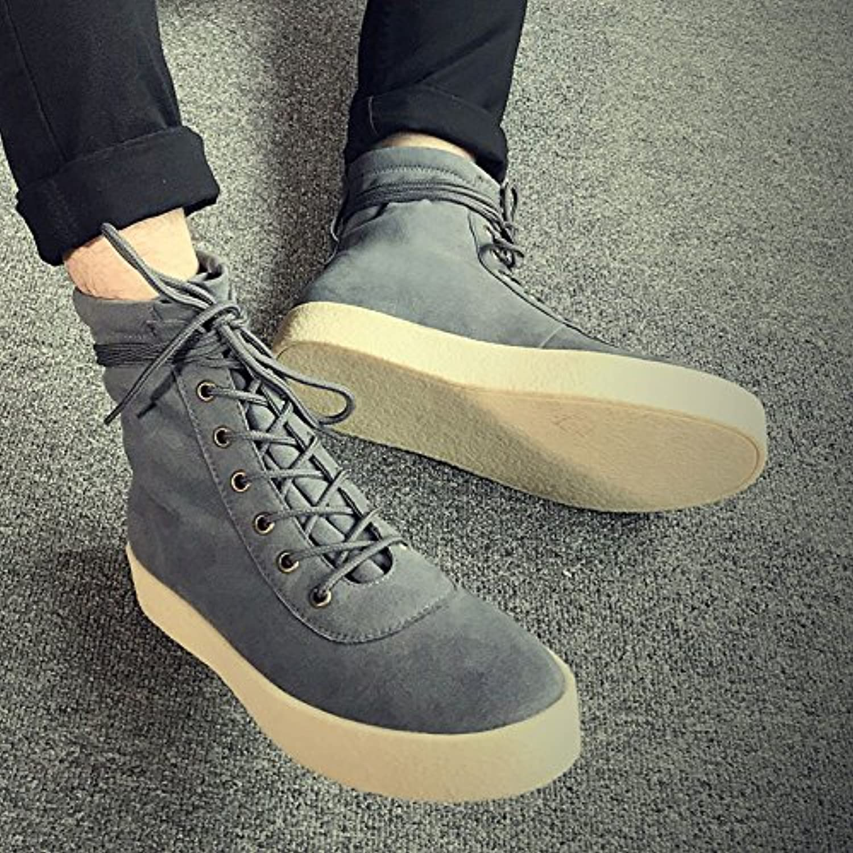 HL-PYL-Los hombres las botas en el tubo Martin zapatos botas de montar Retro All-Match.,40,gris