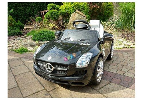 BSD Elektro Kinderauto Elektrisch Ride On Kinderfahrzeug Elektroauto Fernbedienung - Mercedes SLS - Schwarz