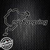 Adesivo Stickers Circuito Pista Nurburgring Auto e Moto Decal Intagliati - Bianco Opaco