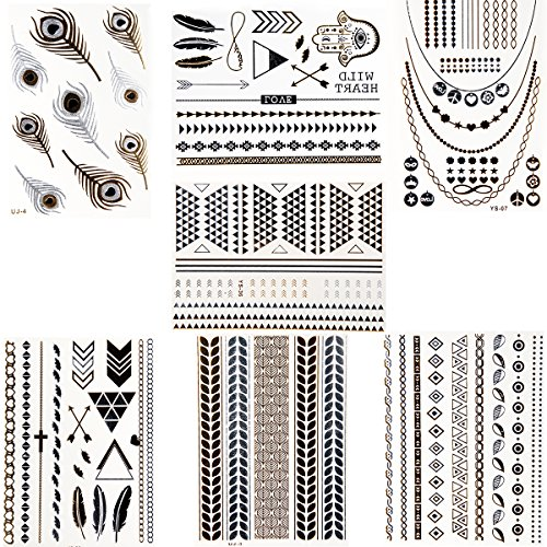 jewelrywe-7-pack-of-metallic-gold-silver-black-jewelry-temporary-bling-tattoos-all-in-one-package-7-