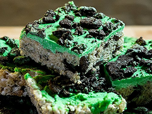 How To Make Mint Chip Oreo Rice Krispie Treats -