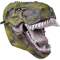 Bristol Novelty BM506dinosaurio PVC máscara de adultos, talla única