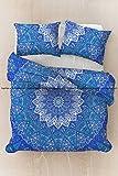 Indian Bettwäsche Doona Psychedelic Star Mandala Bezüge Ethnische Mandala Tapisserie Twin Size Bezug Baumwolle Überwurf Handgefertigtes Betten Set mit 1Kopfkissenbezug (Multi)