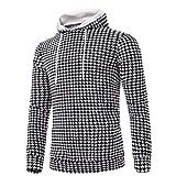 UFACE Herren Longsleeve Kapuzenpullover mit Kapuze T-Shirt Printe Kapuzenpullover mit Kapuze Top Outwear Bluse(A,2XL)