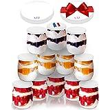 SPECIAL-DAY 12 Pots de yaourt en verre avec 24 couvercles hermétique SANS BPA   QUALITE ALIMENTAIRE GARANTIE   pour yaourtièr