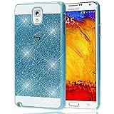 delightable24 Schutzhülle Sparkle Design Case SAMSUNG GALAXY NOTE 3 Smartphone - Blau