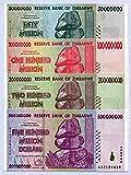 RBZ Collectibles Zimbabwe 50 100 200 500 Milioni di Dollari 2008 P79-P82 UNC bollette ...