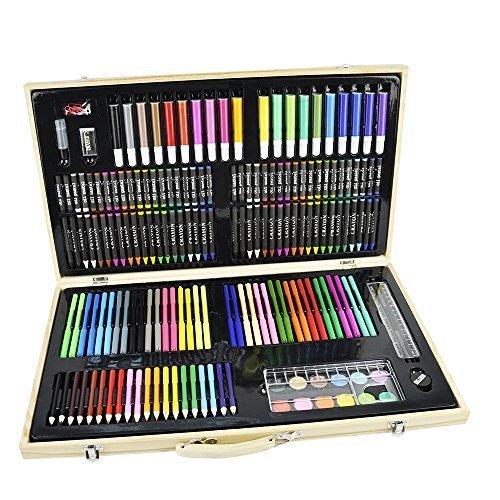 vivoc-set-deluxe-da-180-pezzi-con-pastelli-ad-olio-pennarelli-pastelli-matite-acquerelli-completo-di