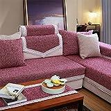 MEILI, Baumwolle, Rot mit Stoff-Sofa mit Kissen, 1, 110 * 180