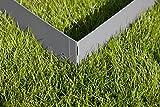 HN Kernstützen Metallwaren Ecke für Rasenkante Metall Anthrazit gepulvert 8x8x13,5cm 4er Set Beeteinfassung Wegbegrenzung
