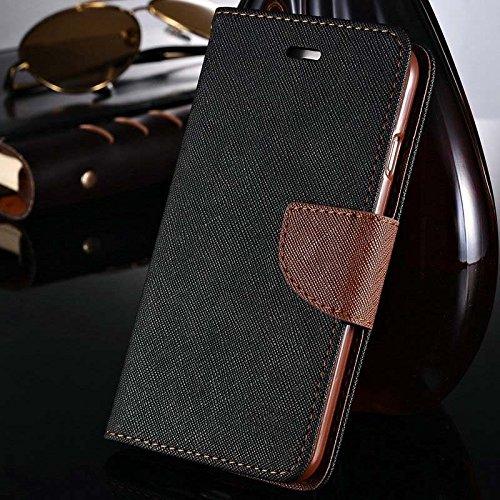 aridox (TM) Étui à rabat de luxe en cuir pour iPhone 6Plus 14cm fente pour carte Support pour téléphone style portefeuille avec logo pour Apple iPhone 6Plus