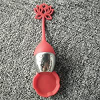Silicon Tea Infuser/Strainers (Red Lotus)
