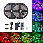 DC12V 48W 10 Meters 600 LED RGB Strip Light with IR 44 Keys Remote Control Controller Cuttable Supported Autom