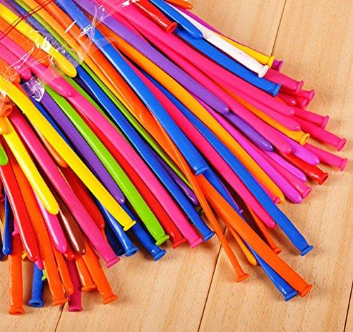Da.Wa 100 x Luftballons Magic Modellierballons Deko Ballon für Party Hochzeit Geburtstag,Zufällige Farbe