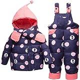 Bebé Invierno 3 Piezas Trajes de Nieve Capucha Plumón Chaqueta + Pantalones y Monos para La Nieve + Bufanda Niños Niñas Snows
