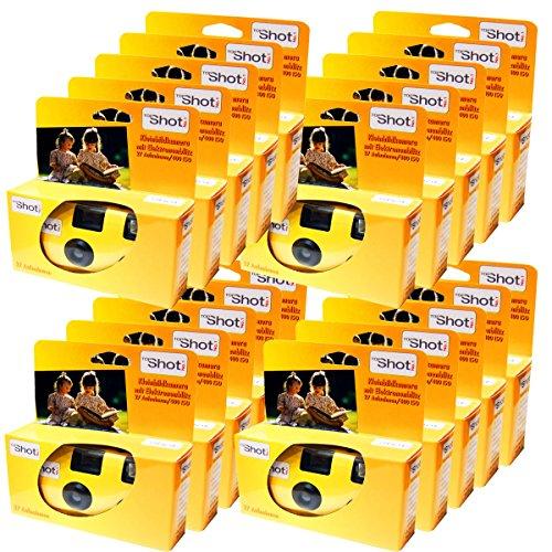 TopShot Lot de 20 appareils photo jetables PHOTO PORST pour 27 photos avec flash