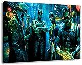 watchmen Format 120x80 cm Bild auf Leinwand, XXL riesige Bilder fertig gerahmt mit Keilrahmen, Kunstdruck auf Wandbild mit Rahmen
