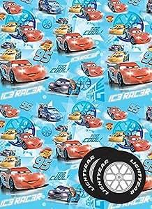 Disney Cars Papier cadeau et étiquette cadeau