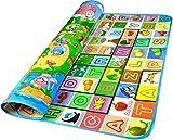 Tappeto per Bambini Gioco Doppia Faccia Impermeabile Grande per Casa e All'aperto 200 X 180 X 0.5cm