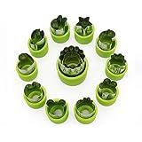 MOONBROOK Jeu de Forme de Coupe-légumes (12 pièces) pour Enfants - Mini légumes en Acier Inoxydable, Fruits, emporte…