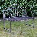 Gartenbank Eisen Metallbank Bank Metall 2-Sitzer 110cm NEU