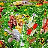 DecoHomeTextil Wachstuch Wachstischdecke Tischdecke Gartentischdecke Ostern Oster Muster und Größe wählbar Ostern Grün 140 x 190 cm Eckig abwaschbar