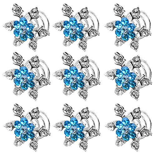 Épingle à Cheveux Vococal® 10Pcs Accessoires Cheveux de Mariée Mariage Bleu