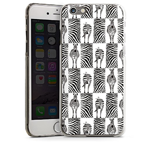 Apple iPhone 5s Housse Étui Protection Coque Zèbre Imprimé animal Motif CasDur transparent