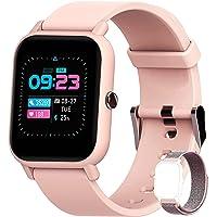 """Smartwatch, Blackview 1.3"""" Armbanduhr mit Blutsauerstoff, personalisiertem Bildschirm, Musiksteuerung, Herzfrequenz…"""