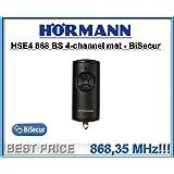 Hörmann HSE 4-868 BS Fernbedienung, schwarz, matt, 868,3Mhz, BiSecur 4-Kanal-Sender Hochwertige Original-Funkfernsteuerung von Hörmann mit sehr gutem Preis-Leistungs-Verhältnis.